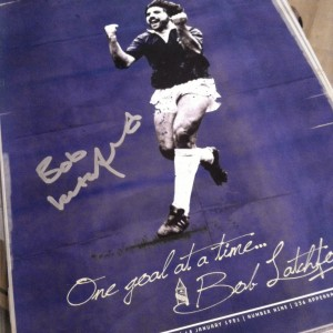 Bob Latchford Signed A3