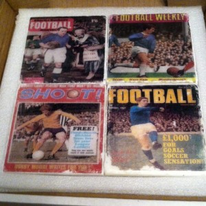 Everton FC 70s magazine covers