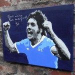 Bob Latchford signed painting