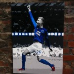 John Stones Manchester United goal painted canvas